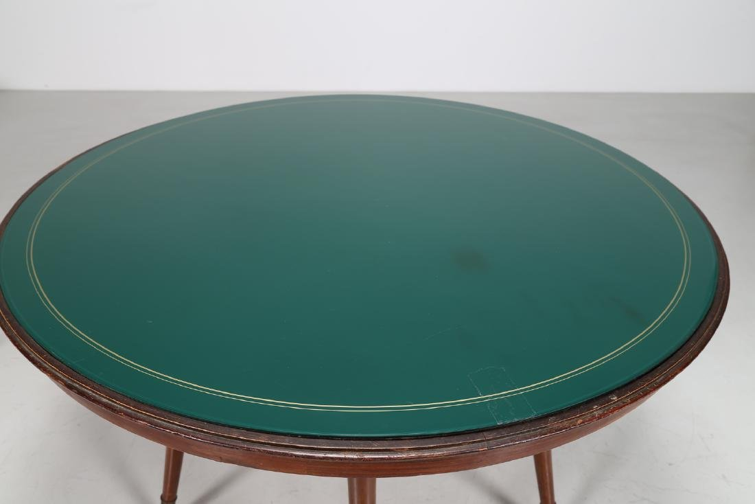 ICO PARISI Distinctive round wooden table with brass - 5