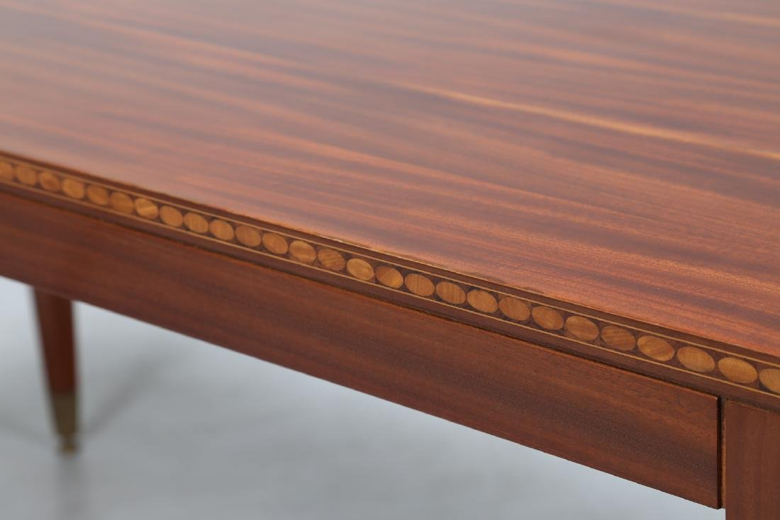 PAOLO BUFFA Mahogany table inlaid with various types of - 3
