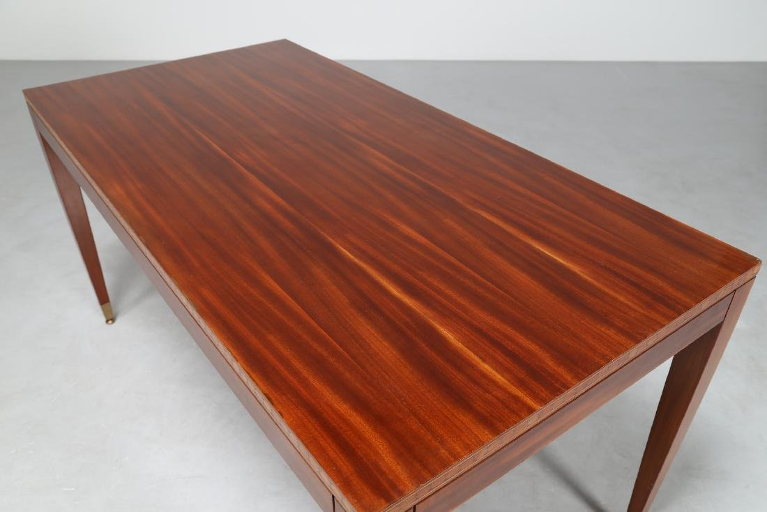 PAOLO BUFFA Mahogany table inlaid with various types of - 4