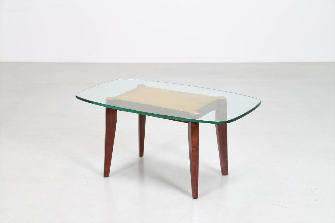 MELCHIORRE BEGA Wooden coffee table with gold leaf and