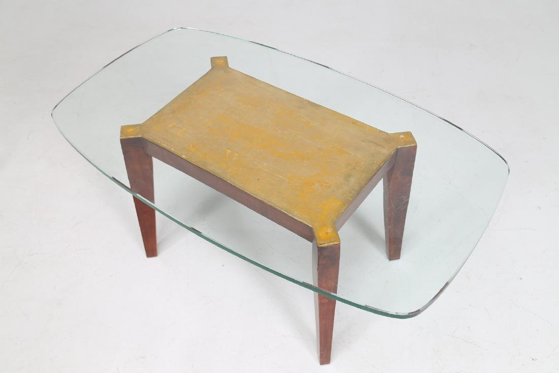 MELCHIORRE BEGA Wooden coffee table with gold leaf and - 4