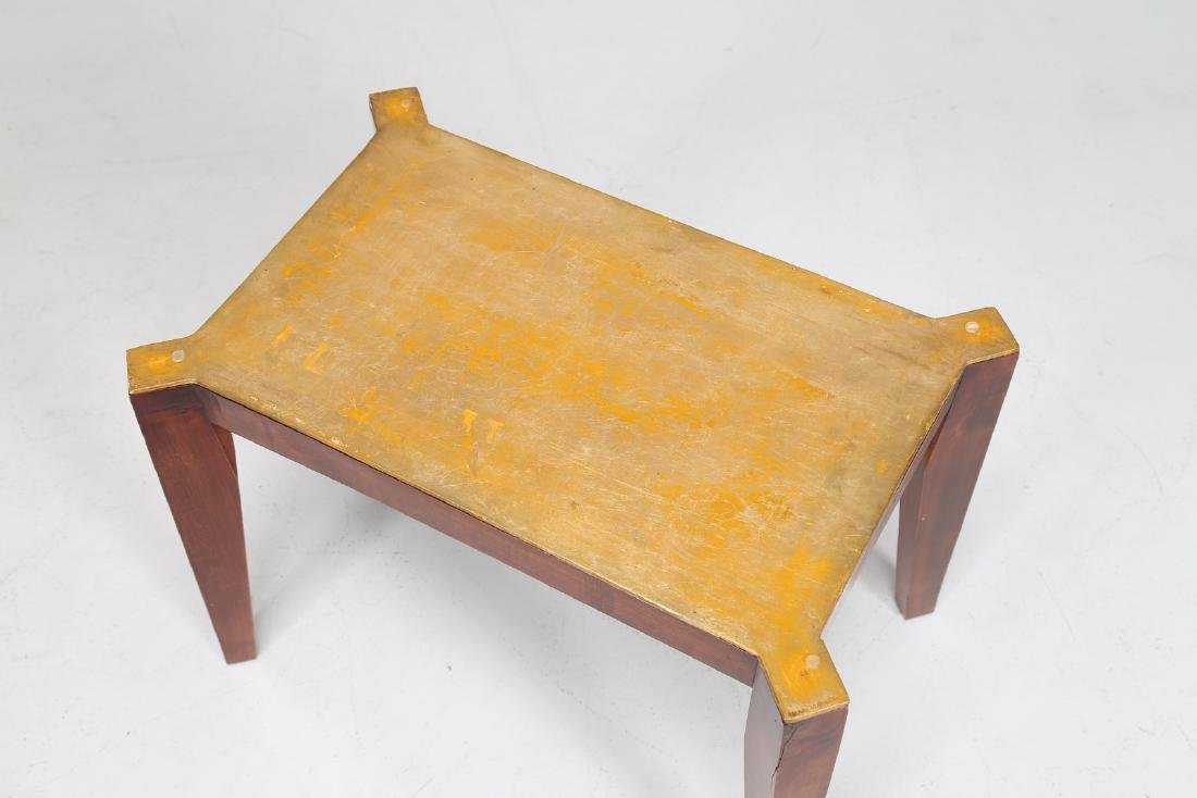 MELCHIORRE BEGA Wooden coffee table with gold leaf and - 5
