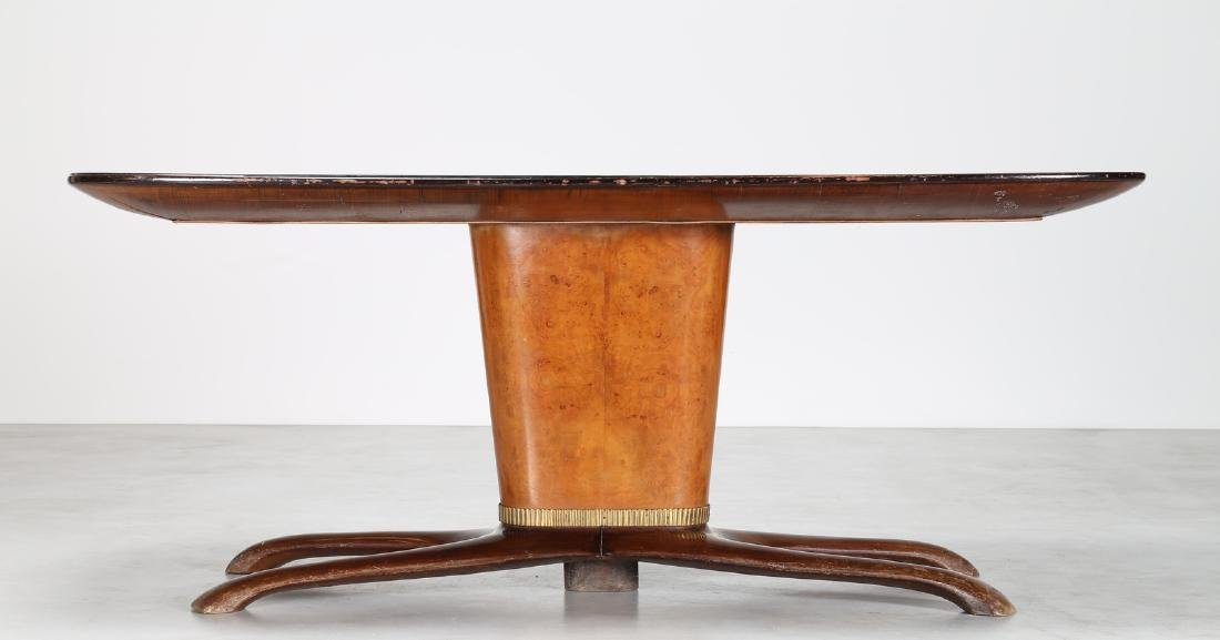 SAVERIO JANNACE  Mahogany table with brass trim and - 6