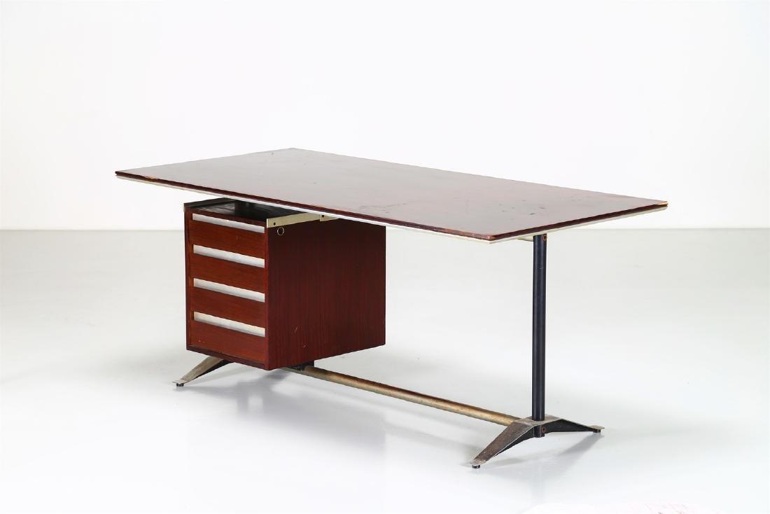 GIO PONTI - ALBERTO ROSSELLI Rosewood desk in