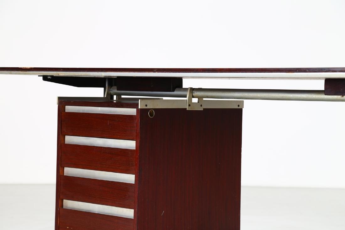 GIO PONTI - ALBERTO ROSSELLI Rosewood desk in - 4