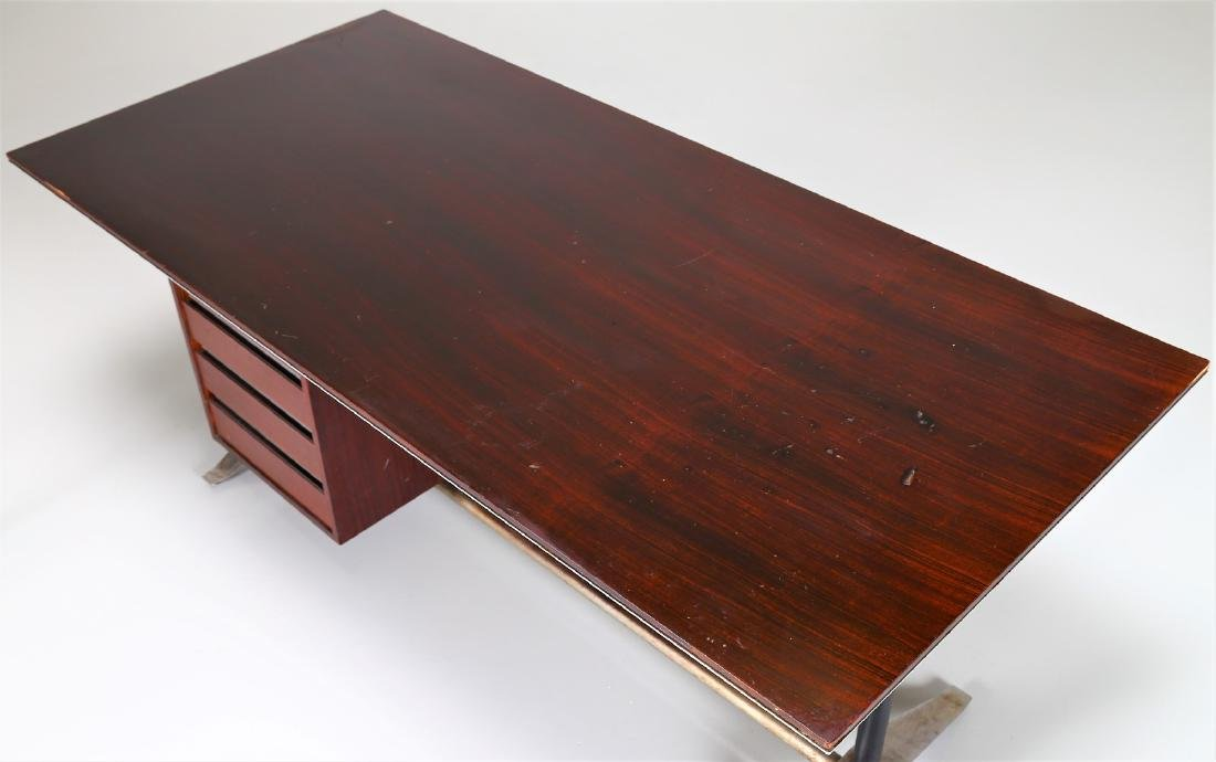 GIO PONTI - ALBERTO ROSSELLI Rosewood desk in - 6