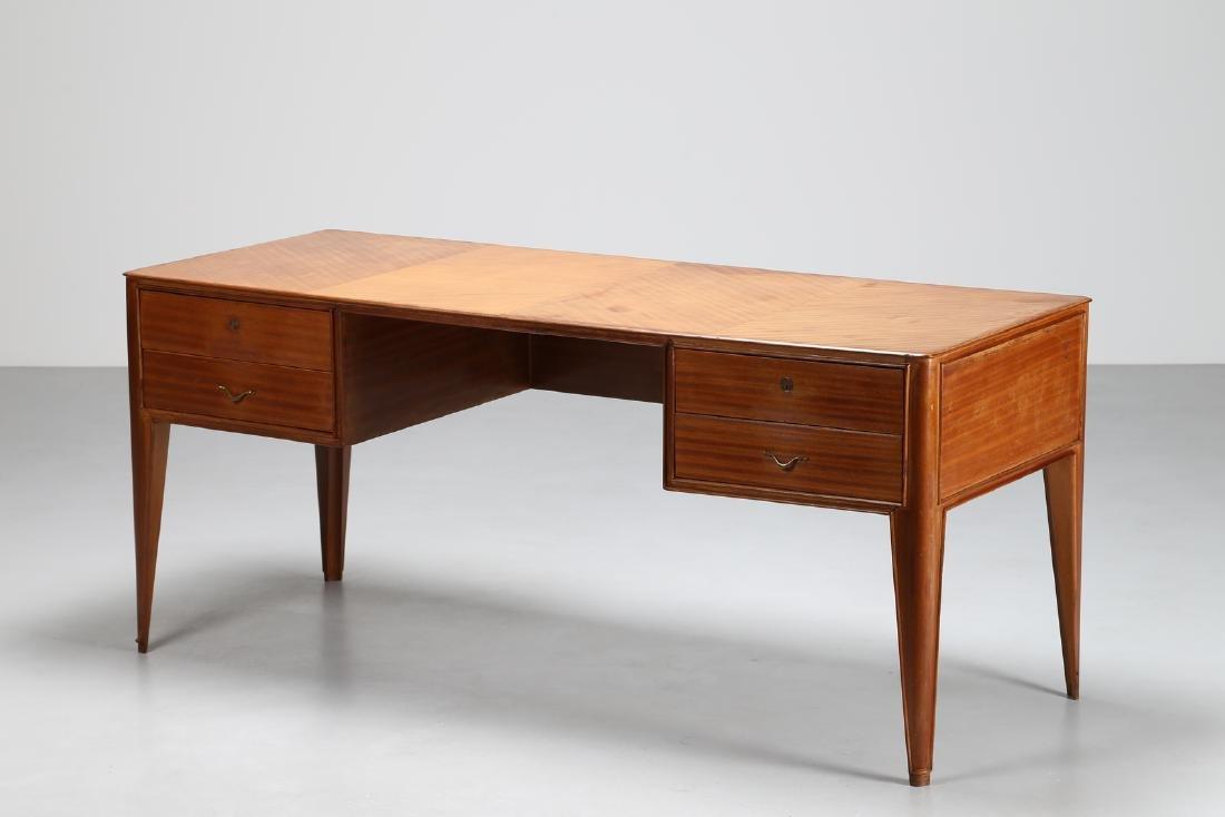 GUGLIELMO ULRICH Attributed to Desk, cherry wood veneer