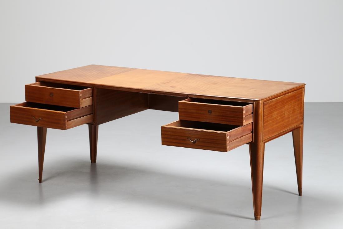 GUGLIELMO ULRICH Attributed to Desk, cherry wood veneer - 2