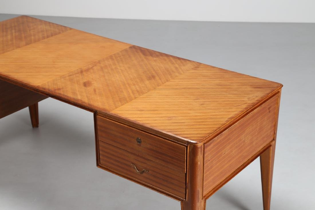 GUGLIELMO ULRICH Attributed to Desk, cherry wood veneer - 3