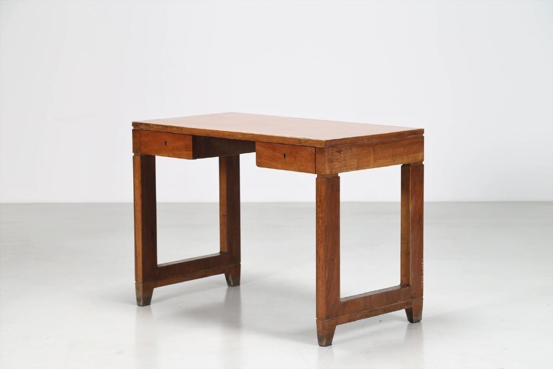 GIOVANNI MICHELUCCI Distinctive wood and Formica desk.