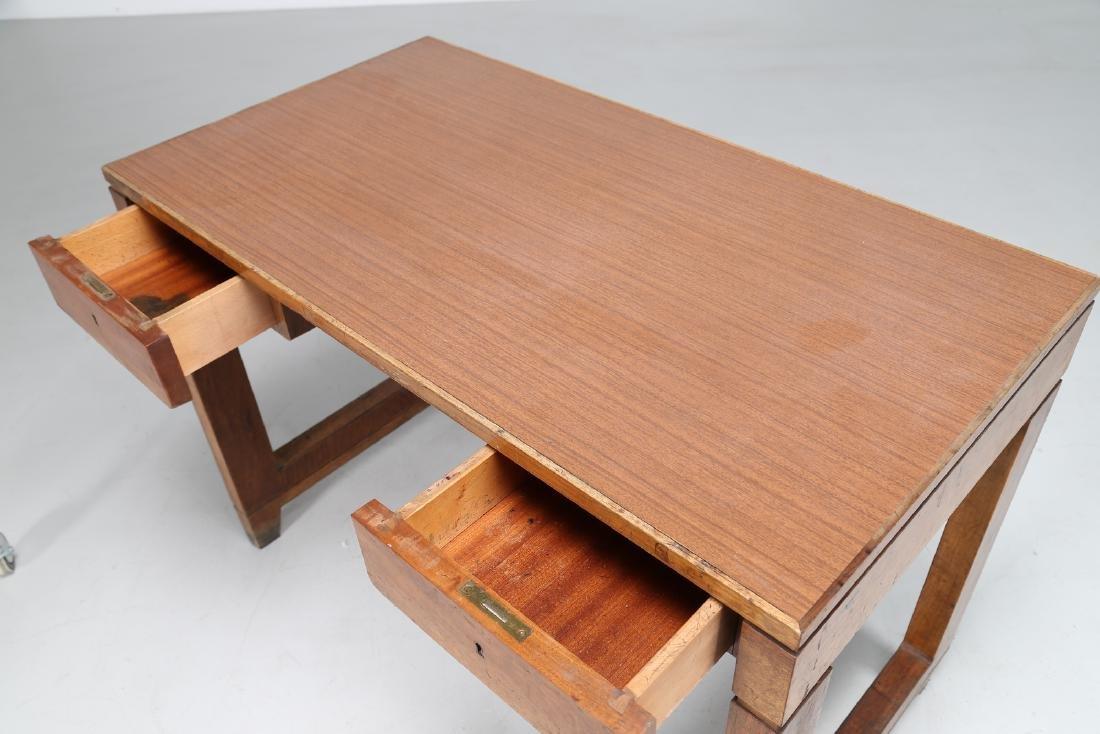 GIOVANNI MICHELUCCI Distinctive wood and Formica desk. - 3