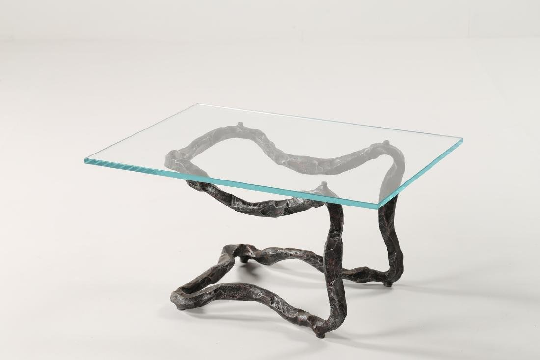 SALVINO MARSURA Forged wrought iron coffee table with