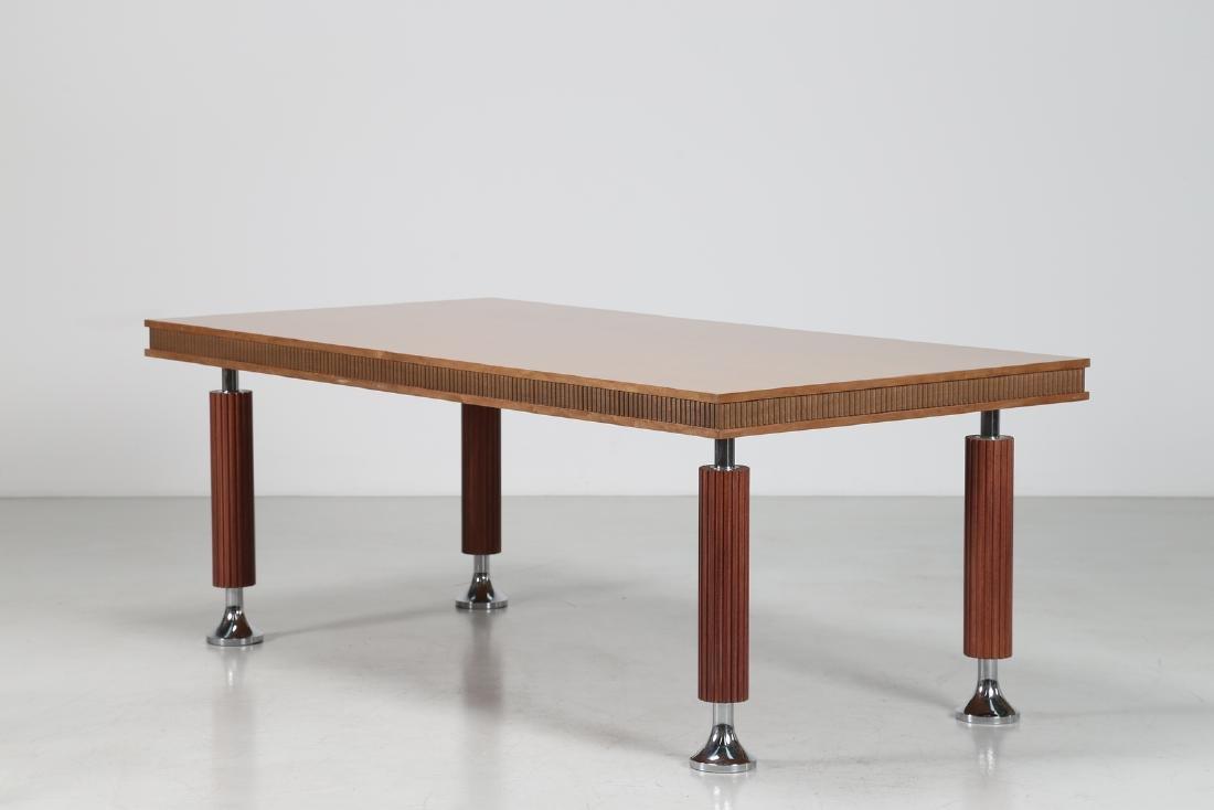 GIORGIO SAPORITI Table in mahogany, thuja root and