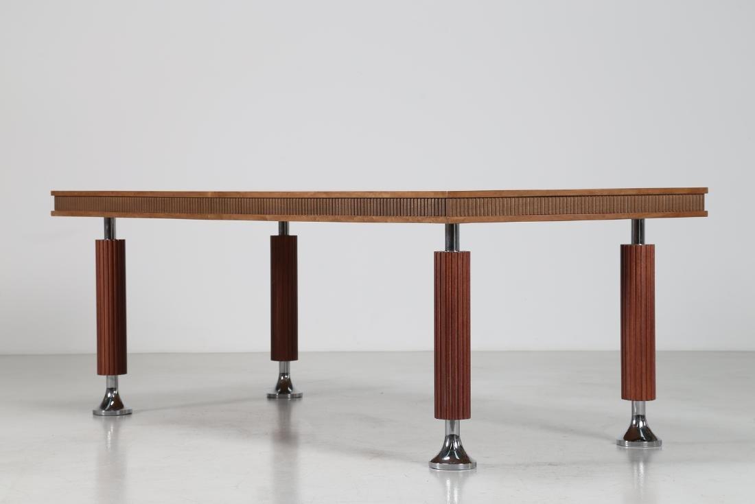 GIORGIO SAPORITI Table in mahogany, thuja root and - 2