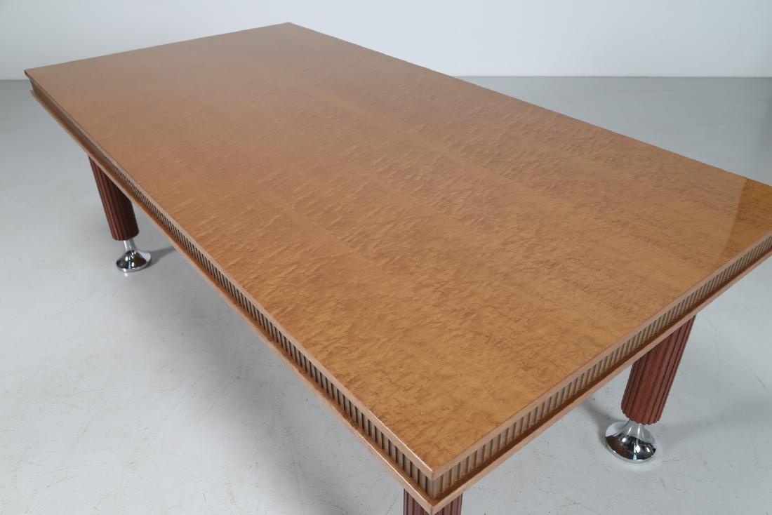 GIORGIO SAPORITI Table in mahogany, thuja root and - 5