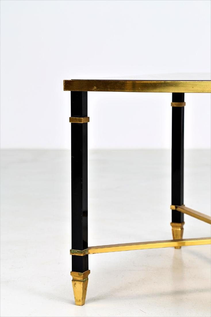 MAISON JANSEN Coffee table in lacquered iron and brass - 2