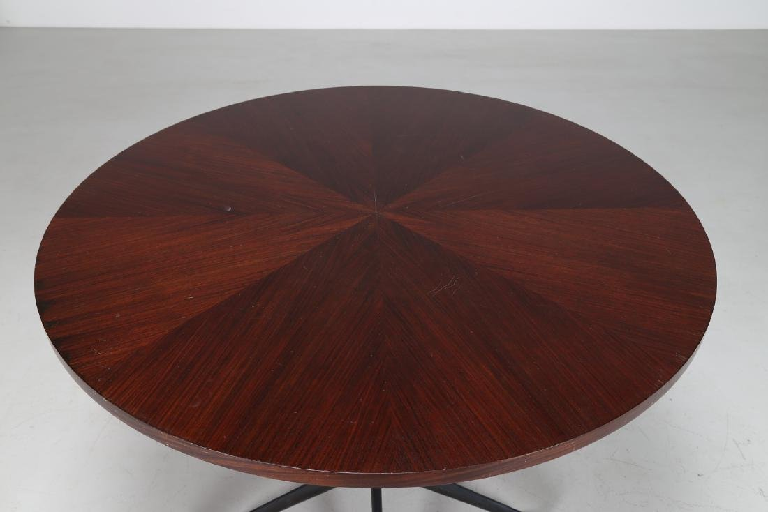 MIM  Round table in rosewood and lacquered metal, - 3