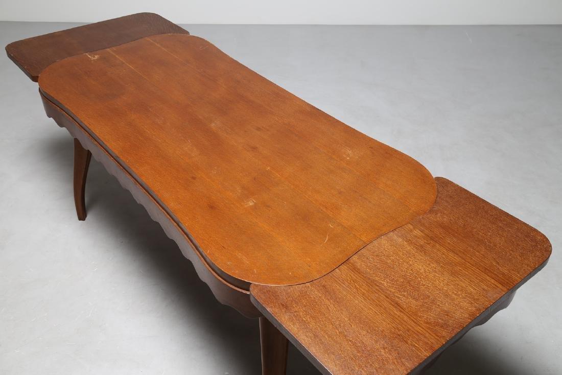 PAOLO BUFFA Extending oak table, 1950s. - 3