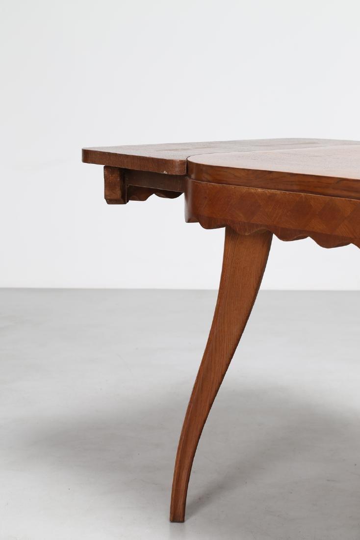 PAOLO BUFFA Extending oak table, 1950s. - 6