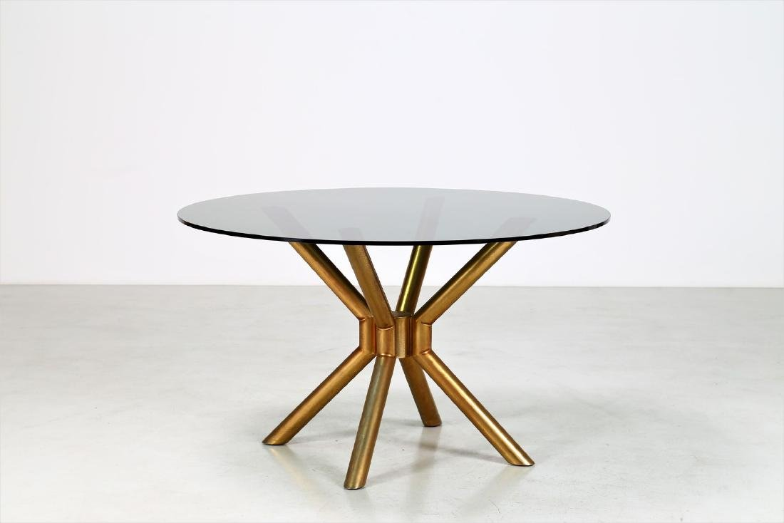 MANIFATTURA ITALIANA  Anodised aluminium table with