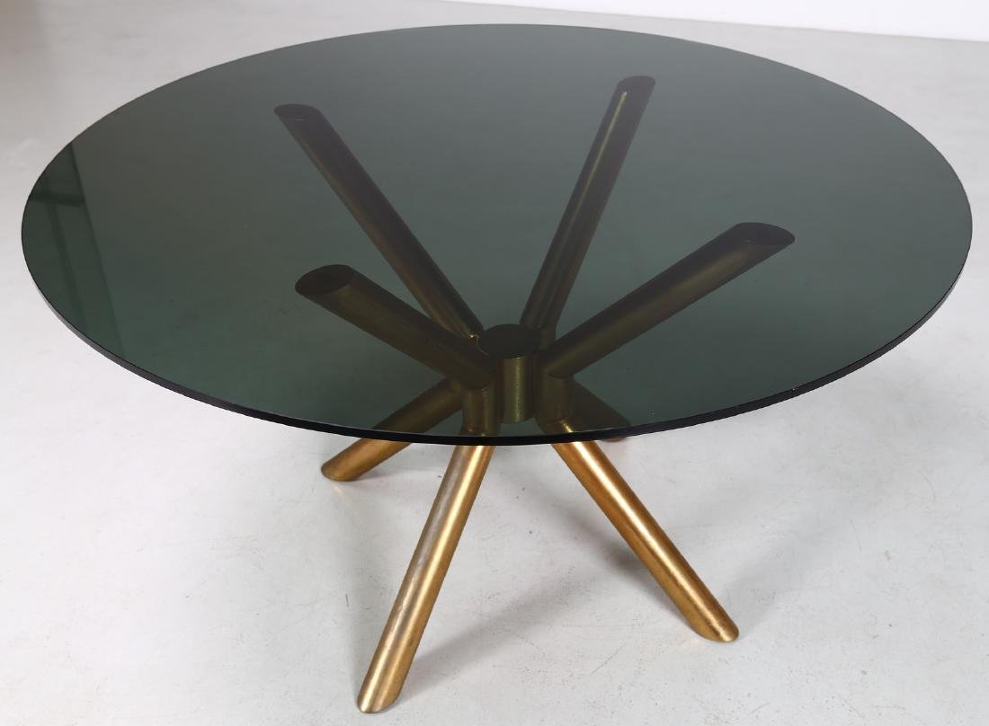 MANIFATTURA ITALIANA  Anodised aluminium table with - 4