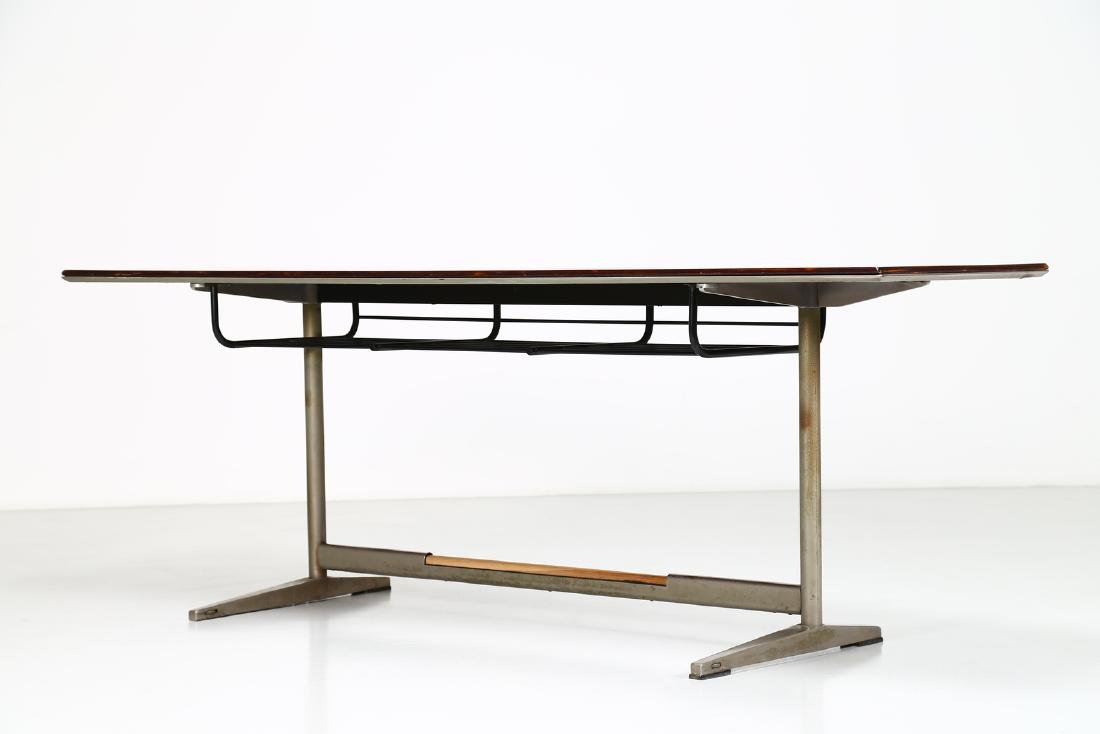GIO' PONTI Wood table with tubular steel frame, USC 636 - 2