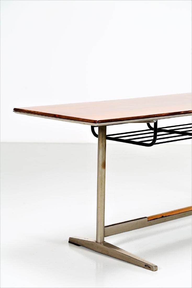 GIO' PONTI Wood table with tubular steel frame, USC 636 - 3