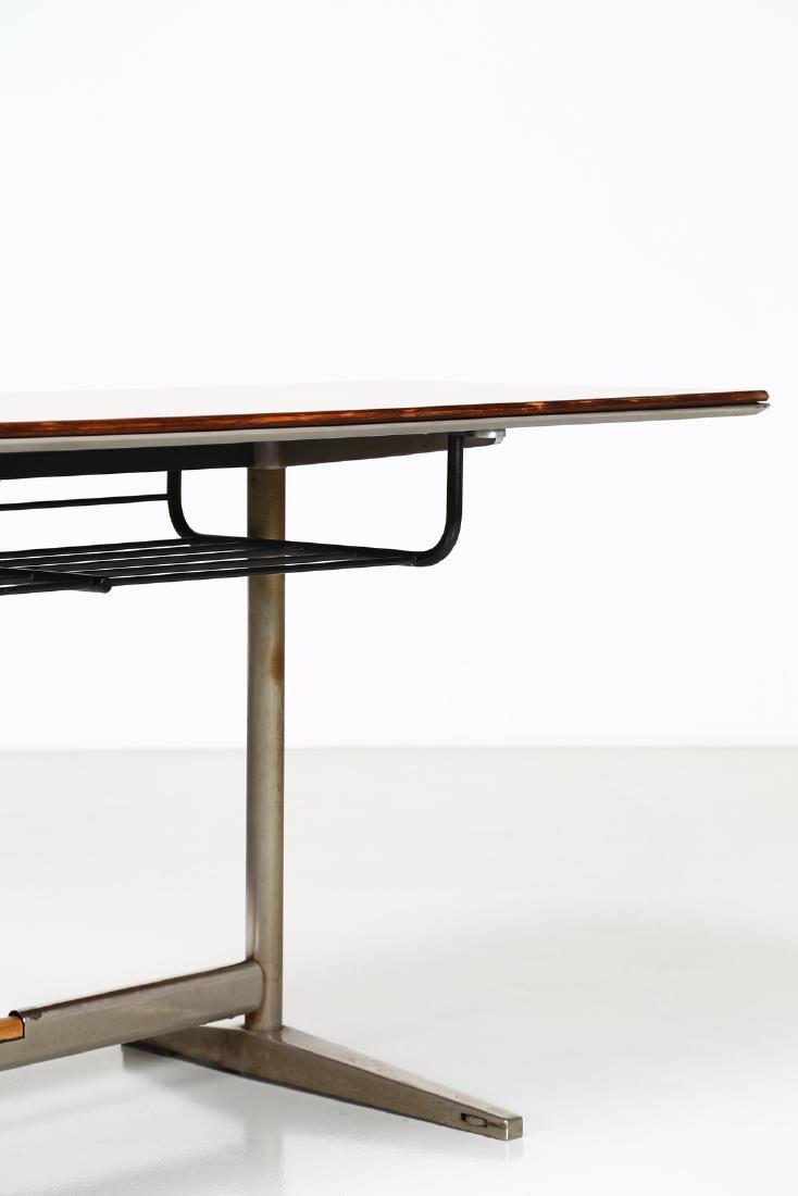 GIO' PONTI Wood table with tubular steel frame, USC 636 - 4