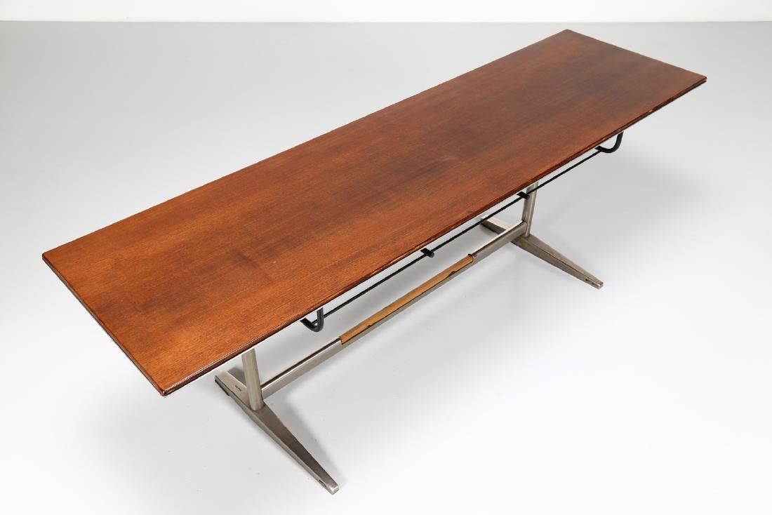 GIO' PONTI Wood table with tubular steel frame, USC 636 - 5