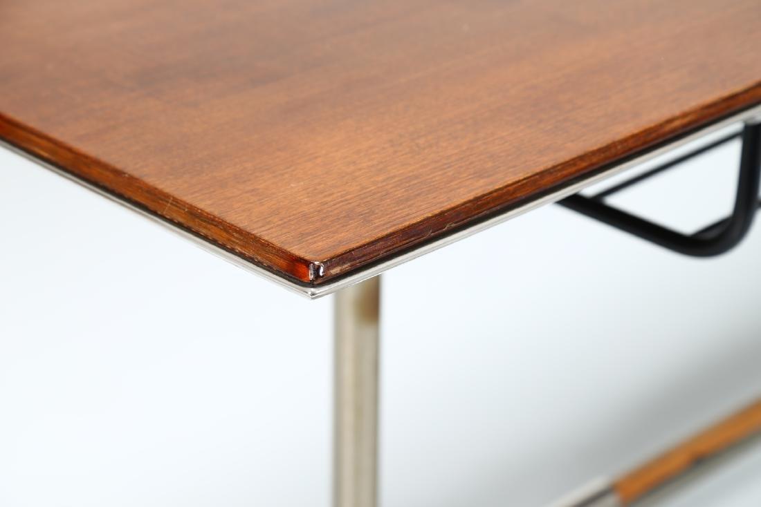 GIO' PONTI Wood table with tubular steel frame, USC 636 - 6