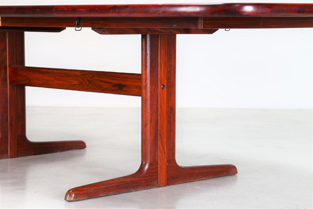 SKOVBY Extending rosewood table, 1970s. - 3