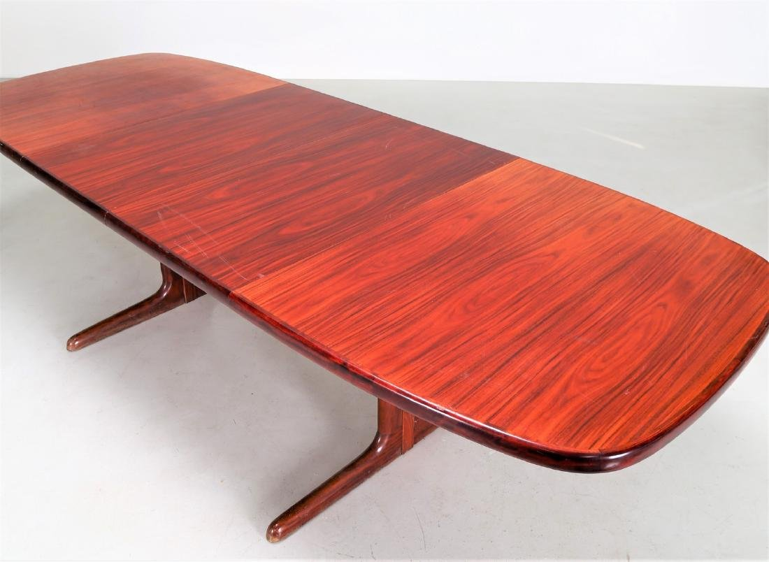 SKOVBY Extending rosewood table, 1970s. - 5