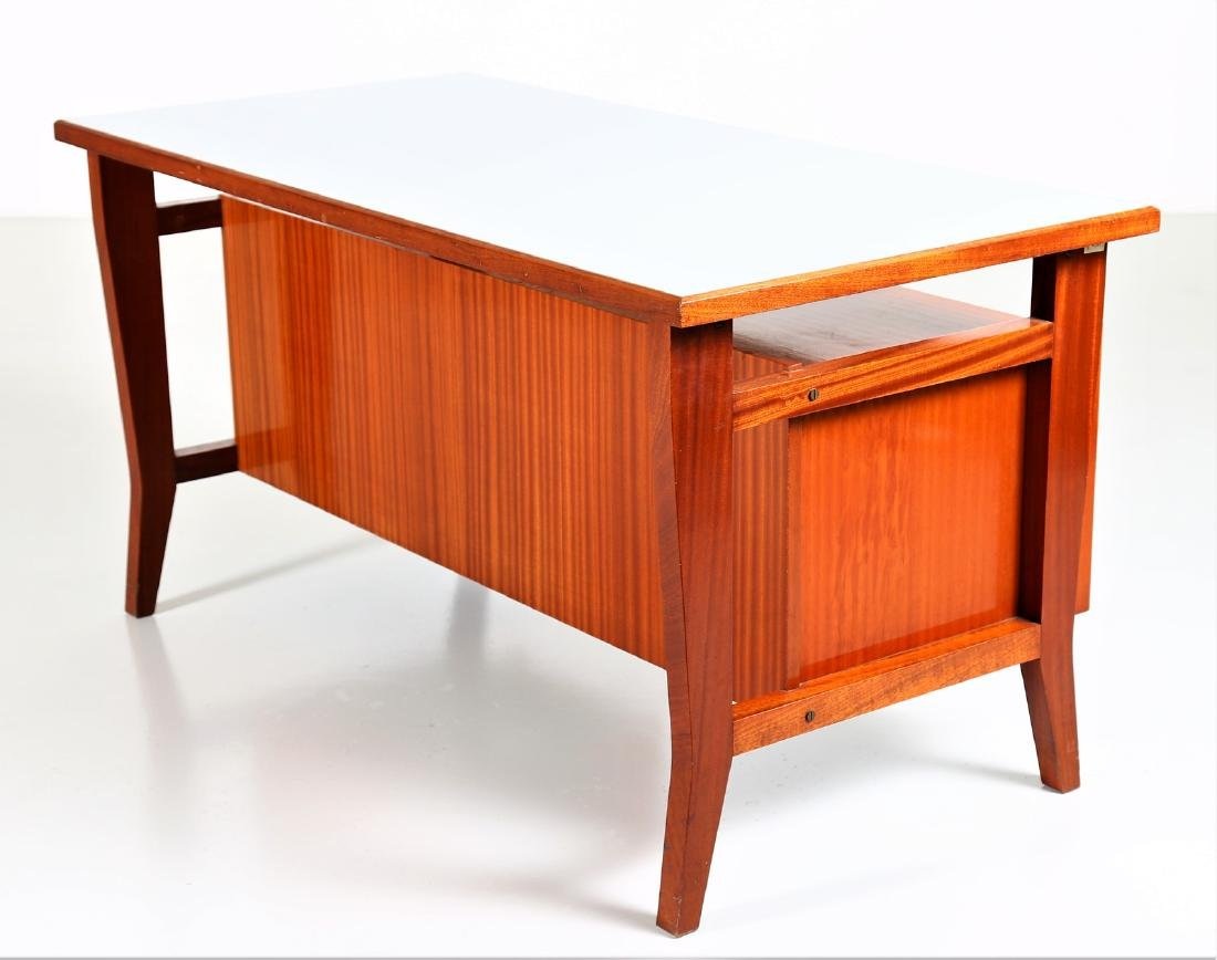 GIO' PONTI Mahogany desk with Formica top by Schirolli, - 5