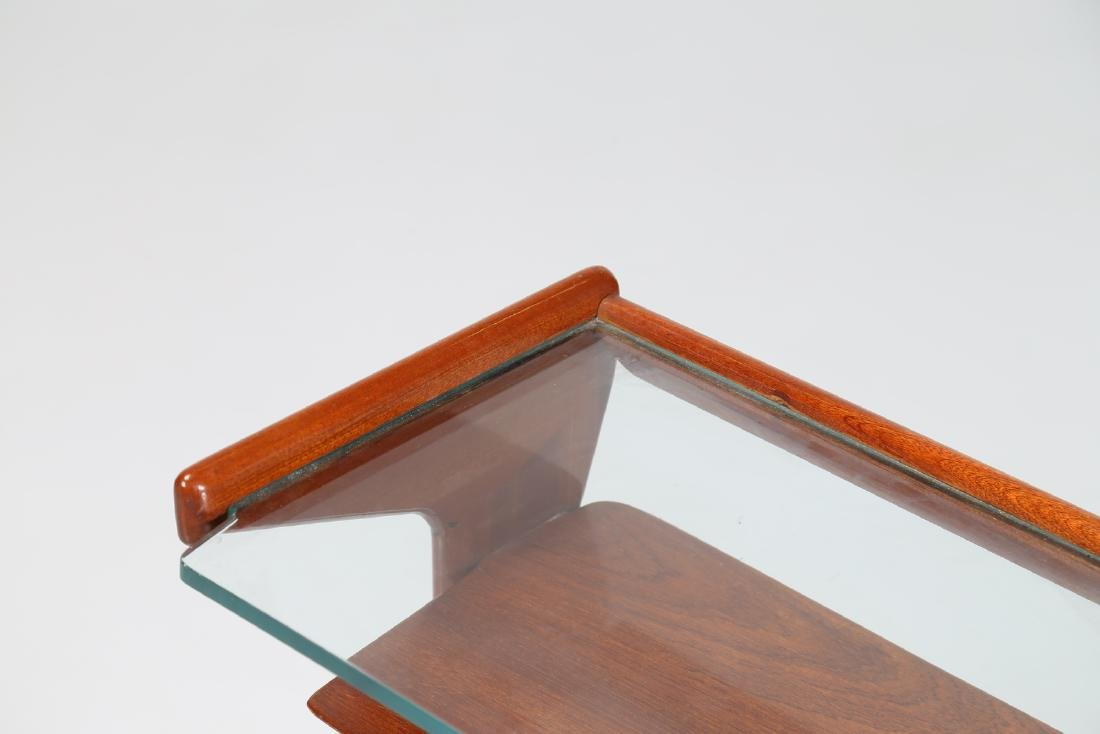 ICO PARISI Wood and glass coffee table, model 360 by - 6