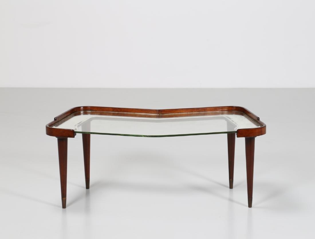 CESARE LACCA Distinctive mahogany and glass coffee - 3