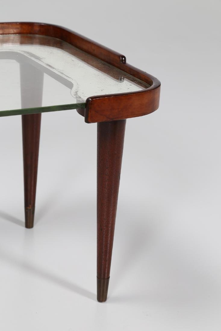 CESARE LACCA Distinctive mahogany and glass coffee - 4