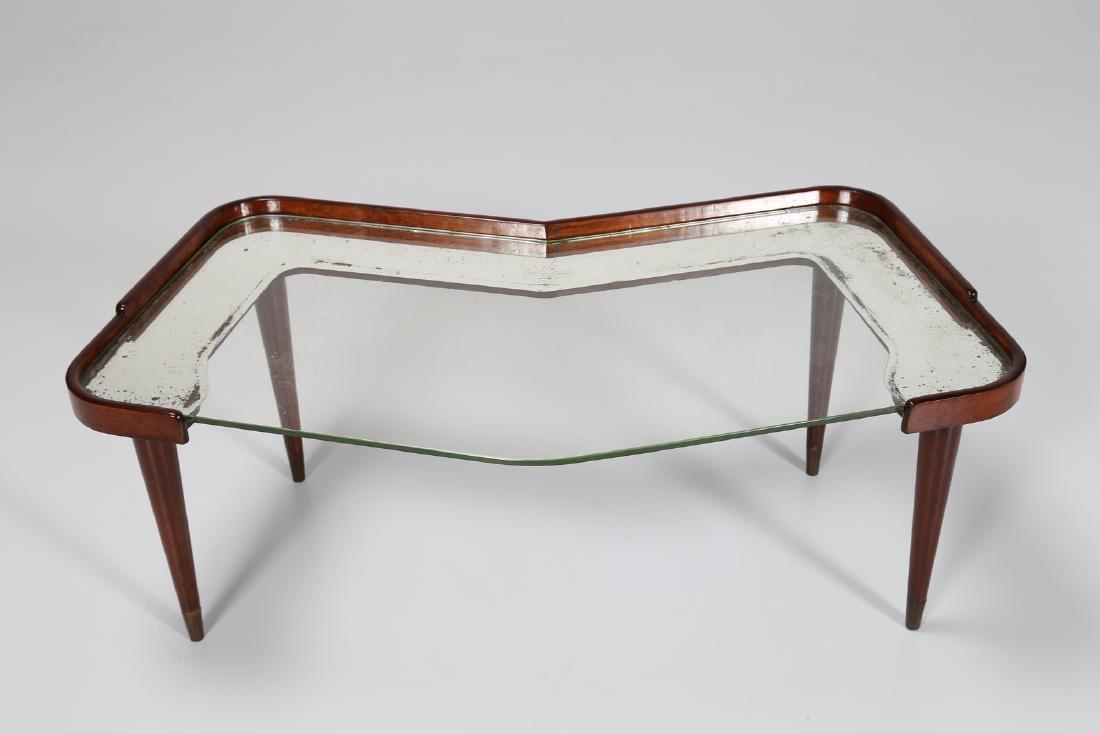 CESARE LACCA Distinctive mahogany and glass coffee - 5