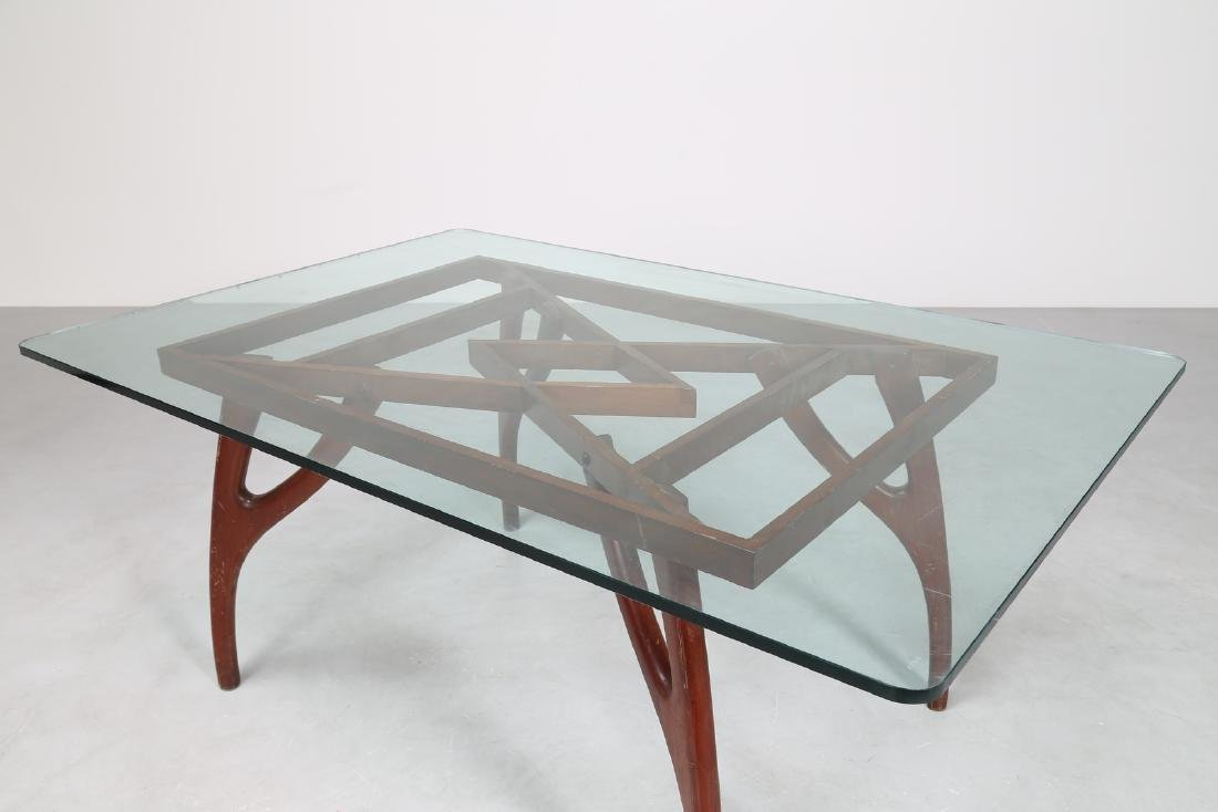 ADRIAN  PEARSALL Distinctive mahogany table with glass - 2