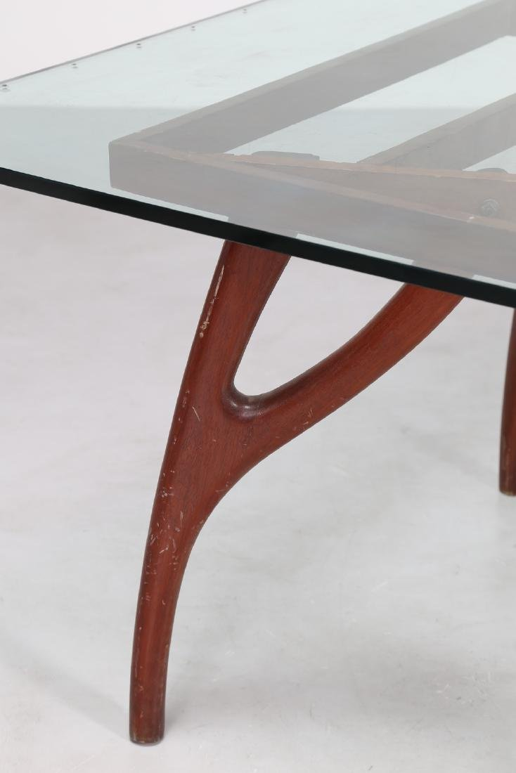 ADRIAN  PEARSALL Distinctive mahogany table with glass - 3