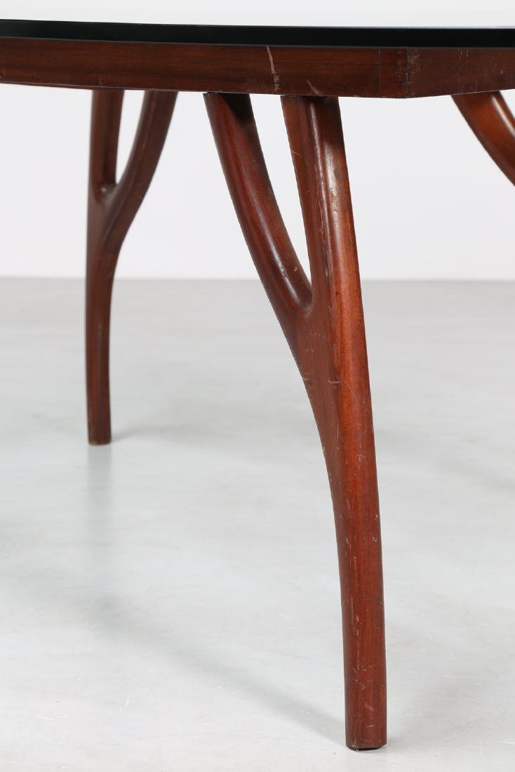 ADRIAN  PEARSALL Distinctive mahogany table with glass - 4
