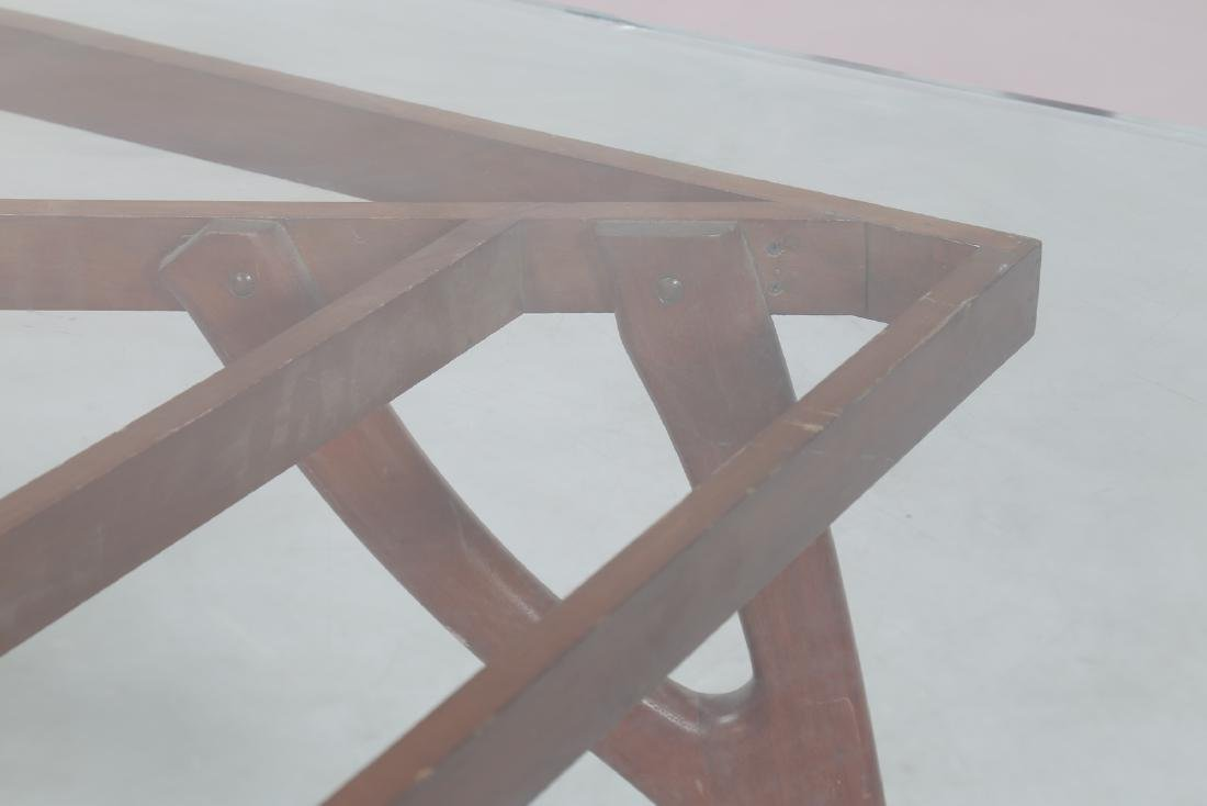 ADRIAN  PEARSALL Distinctive mahogany table with glass - 5