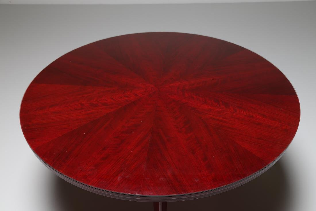 SILVIO CAVATORTA Mahogany table with glass top by - 2
