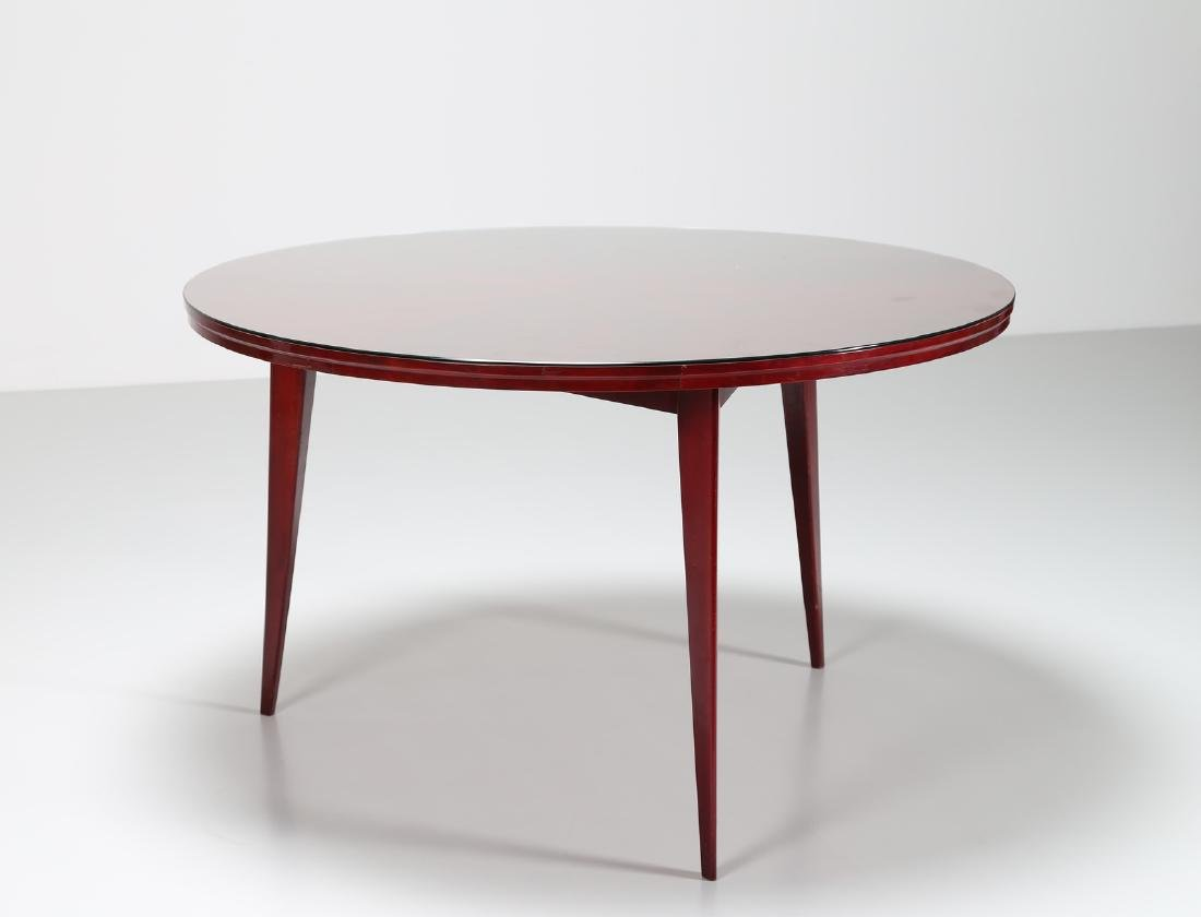 SILVIO CAVATORTA Mahogany table with glass top by - 3