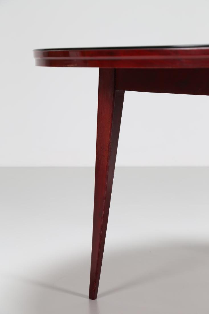 SILVIO CAVATORTA Mahogany table with glass top by - 4