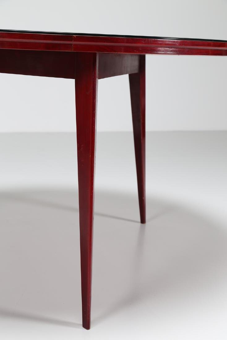 SILVIO CAVATORTA Mahogany table with glass top by - 5