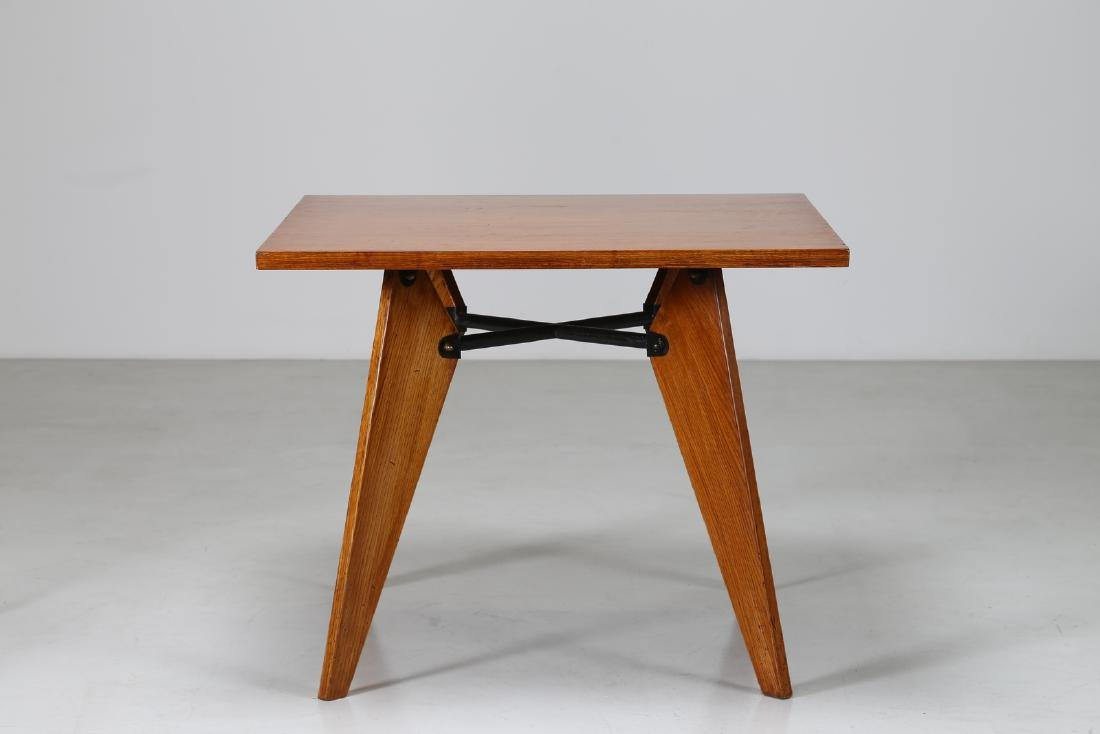 MANIFATTURA FRANCESE  Square table in oak and lacquered - 2