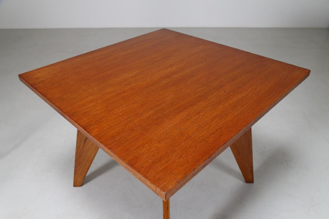MANIFATTURA FRANCESE  Square table in oak and lacquered - 5