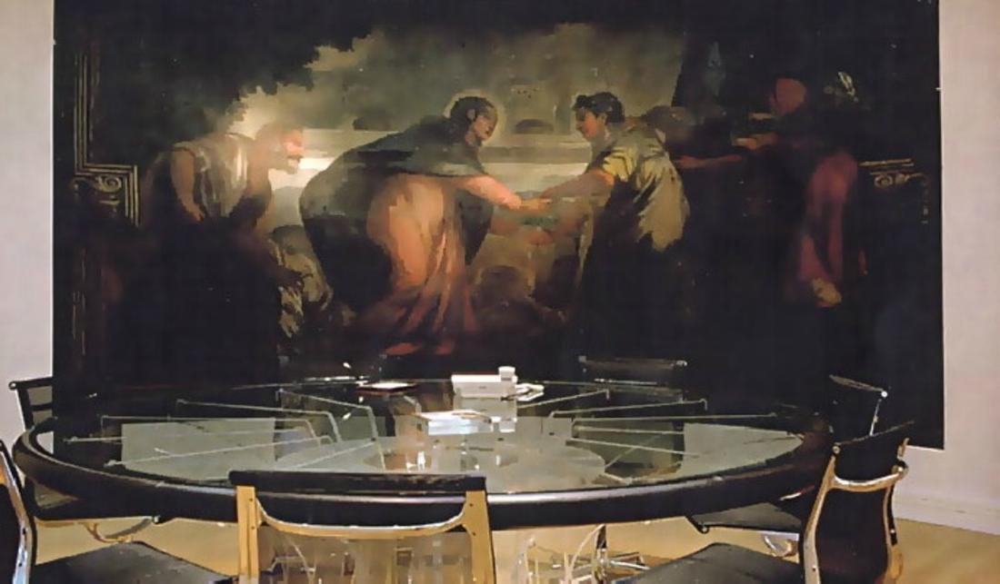LUCIANO  DI PILLA Round plexiglass table with glass top - 8