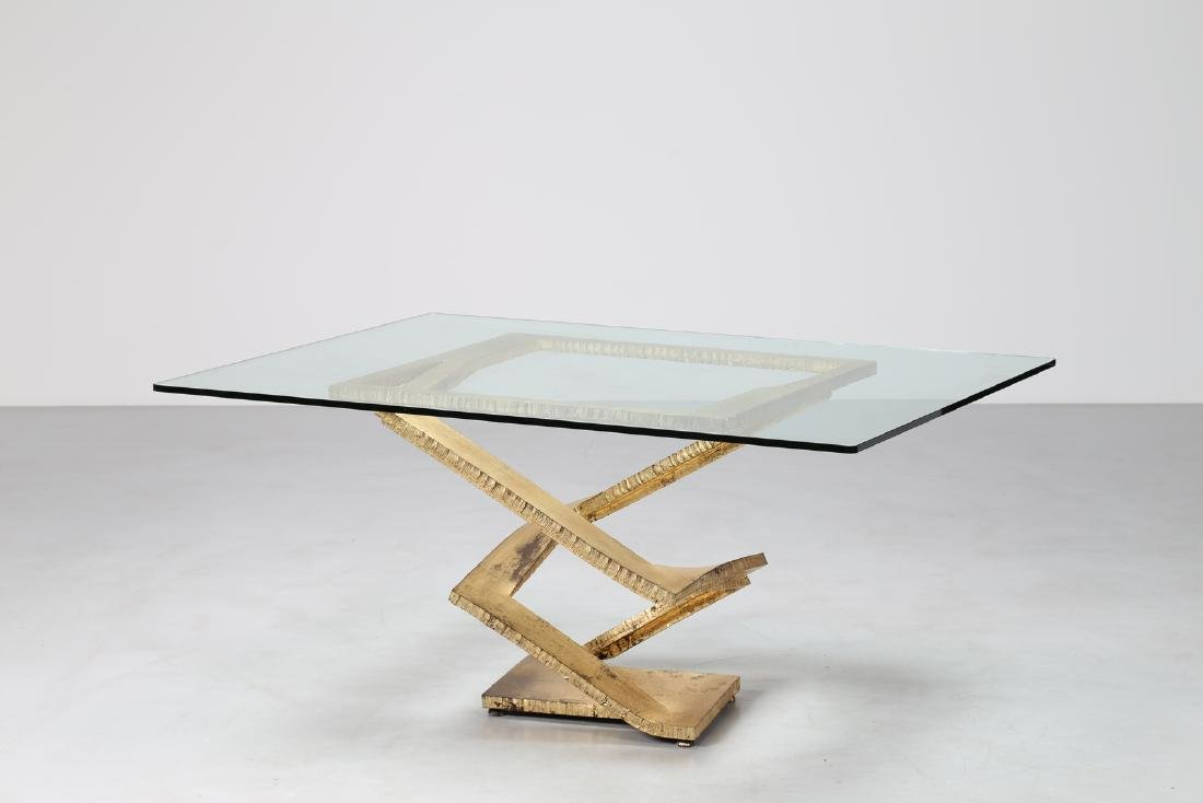 MAURICE  BARILONE Sculpture table consisting of a sheet
