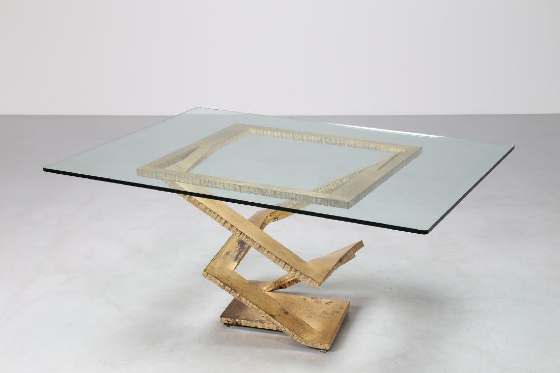 MAURICE  BARILONE Sculpture table consisting of a sheet - 2